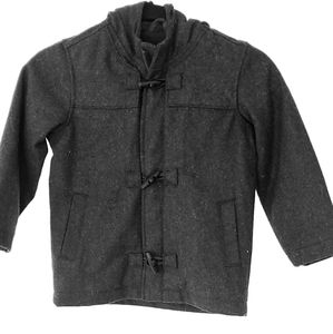 Kids Unisex Wool Peacoat, zip and buttons 5t